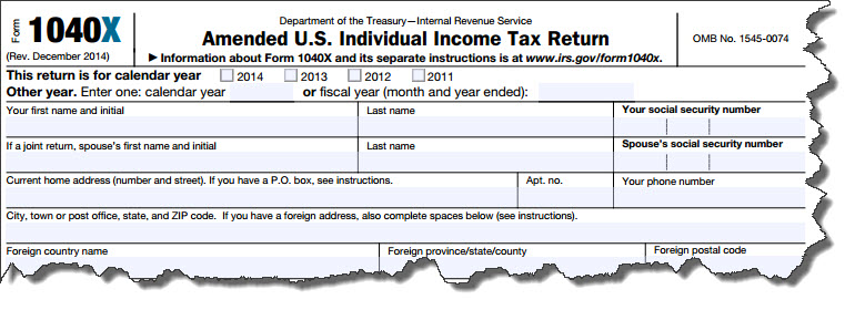 How to File an Amended Tax Return « Strategic Tax Planning ...